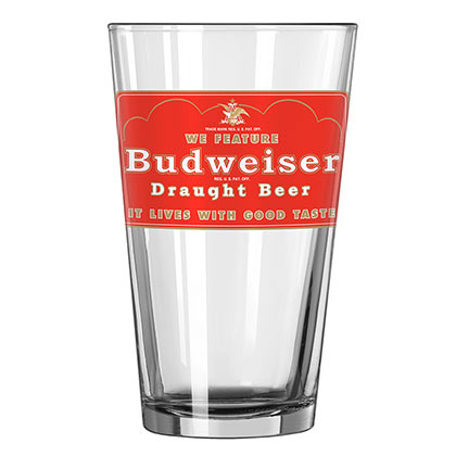 Image of Bicchiere Budweiser