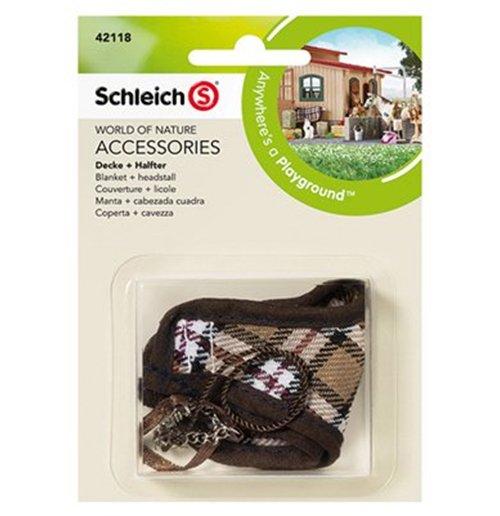 Image of Schleich 2542118 - Coperta + Cavezza