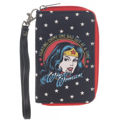 Image of Wonder Woman - Face Small Zip Wallet (Portafogli)