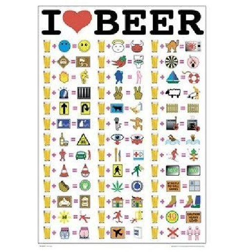 Image of Poster I Love Beer 61x91,5 Cm