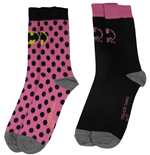 dc-comics-damen-socken-doppelpack-batman-pink