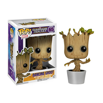 Image of Statuetta Guardians of the Galaxy Funko Pop GUARDIANS OF THE GALAXY Dancing Groot Bobble Head