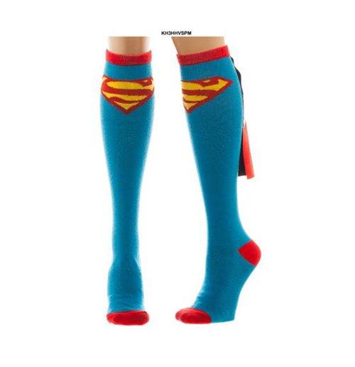 Image of Superman - Shiny Knee High Cape Socks (Calzini)