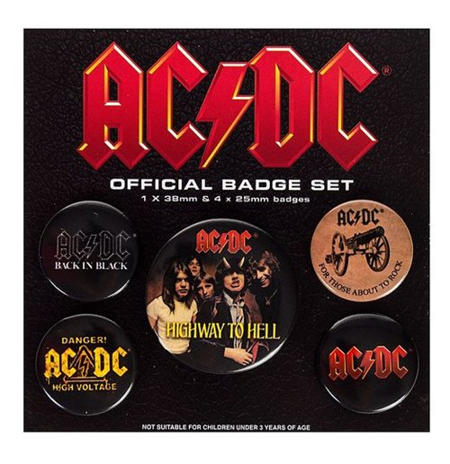 Image of Ac/Dc - Logo (Pin Badge Pack)