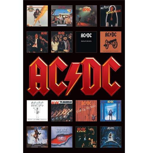 Image of Ac/Dc - Album Covers (Poster Maxi 61X91,5 Cm)
