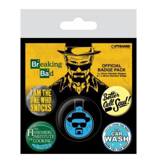 Image of Breaking Bad - Heisenberg Flask (Pin Badge Pack)