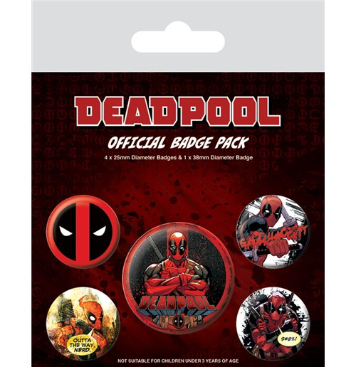Image of Deadpool (Pin Badge Pack)