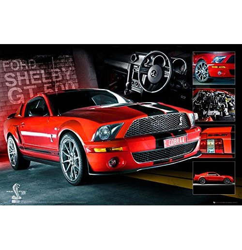 Image of Easton - Red Mustang Gt500 (Poster Maxi 61x91,5 Cm)