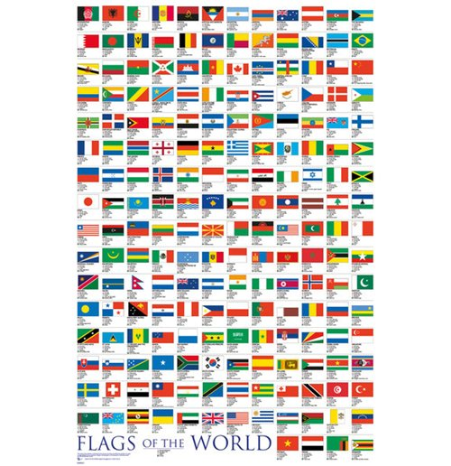 Image of Flags - Of The World 2017 (Poster Maxi 61x91,5 Cm)