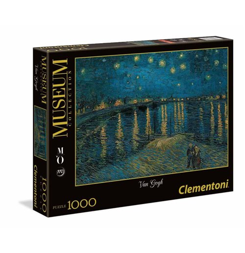Image of Puzzle 1000 Pz - Museum Collection - Musee D'Orsay - Van Gogh - Notte Stellata Sul Rodano