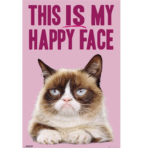 Image of Grumpy Cat - Happy Face (Poster Maxi 61x91,5 Cm)