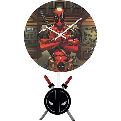 wanduhr-deadpool