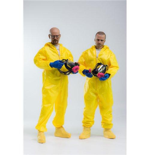 Image of Action figure Breaking Bad Heisenberg & Jesse Pinkman Hazmat Suit 30 cm