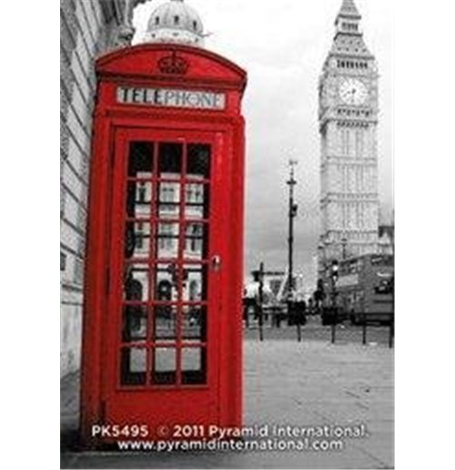 Image of London - Red Phonebox (Portachiavi)