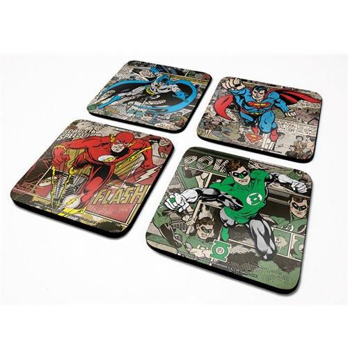 Image of Dc Originals (Burst) 4 Coaster Set (Set 4 Sottobicchieri)