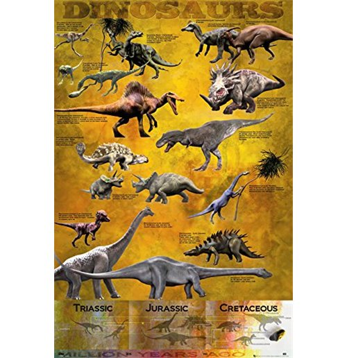 Image of Dinosaurs - Chart (Poster Maxi 61x91,5 Cm)