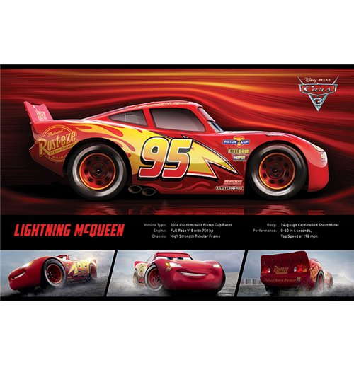 Image of Cars 3 - Lightning Mcqueen Stats (Poster Maxi 61x91,5 Cm)