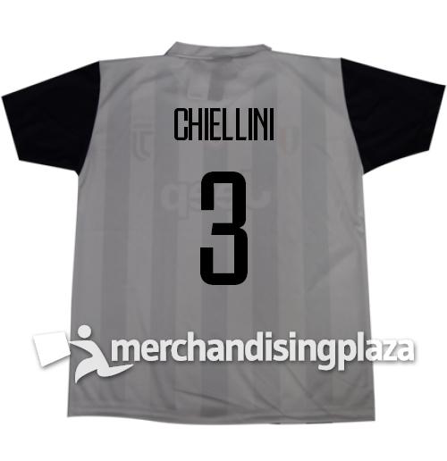 Image of Prima maglia Juventus ufficiale Chiellini 3 replica stagione 2017-18