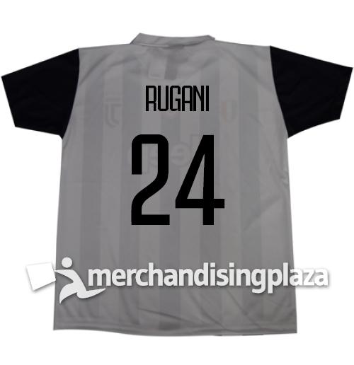 Image of Prima maglia Juventus ufficiale Rugani 24 replica stagione 2017-18