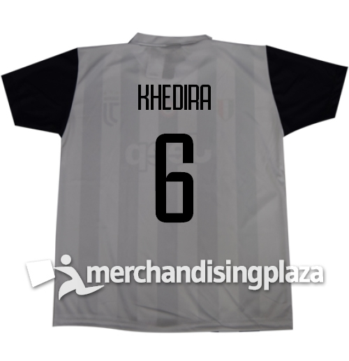 Image of Prima maglia Juventus ufficiale Khedira 6 replica stagione 2017-18