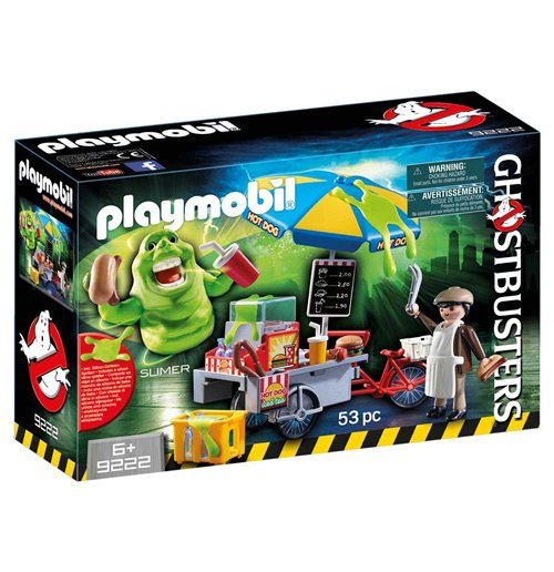 Image of Playmobil 9222 - Ghostbusters - Slimer E Il Carretto Degli Hot Dog