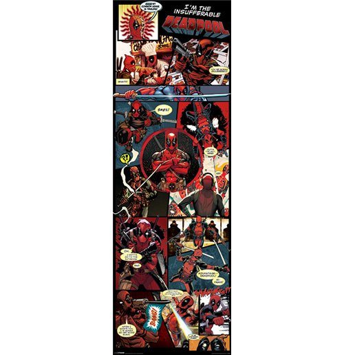 Image of Deadpool - Panels (Poster Da Porta 53X158 Cm)