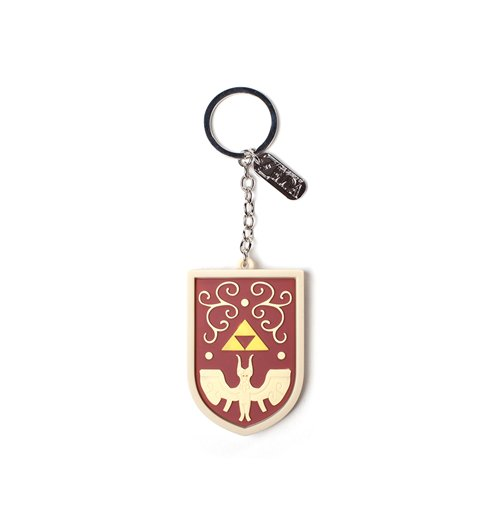 Image of Zelda - Hero'S Shield 3D With Charm 3D Red (Portachiavi)