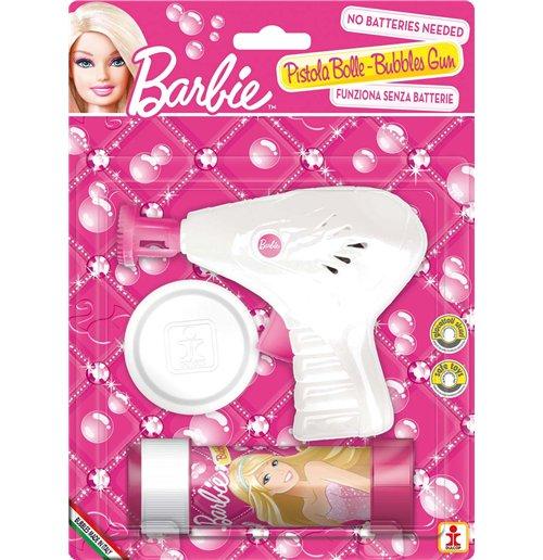 Image of Dulcop Bolle Di Sapone - Pistola Bolle Meccanica Piccola - Barbie - Blister 1 Pz 60 Ml