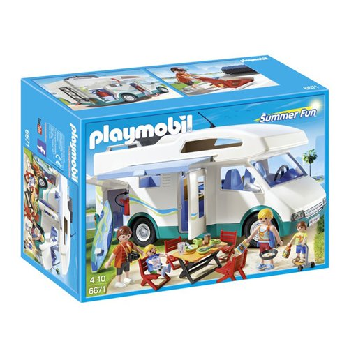 Image of Playmobil 6671 - Summer Fun - Acqua Park - Camper Di Villeggianti