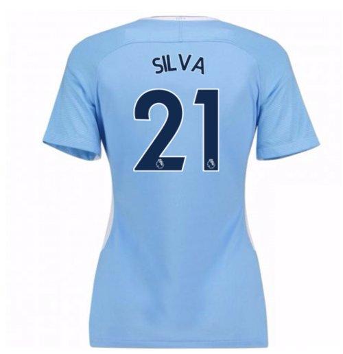 Image of Maglia 2017/18 Manchester City Home da donna (Silva 21)