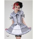 schwarz-wei-kariertes-lolita-minikleid