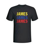 t-shirt-kolumbia-fussball-schwarz-