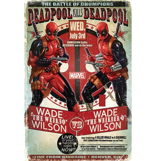 Image of Poster Deadpool - Wade Vs Wade - 61X91,5 Cm