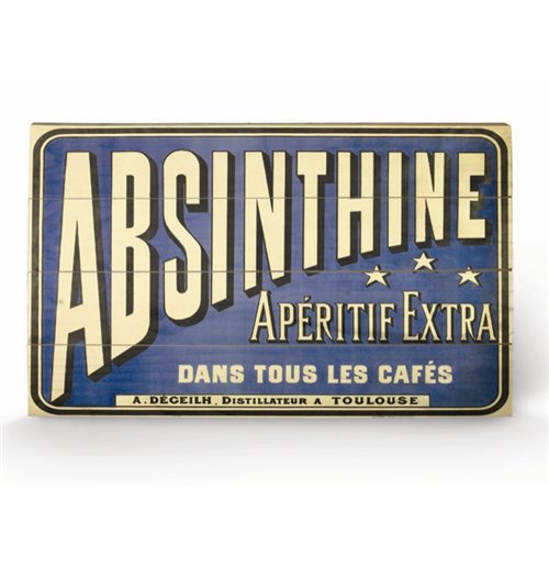 Image of Absinthe Aperitif (Stampa Su Legno 76X45Cm)