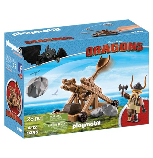 Image of Playmobil 9245 - Dragons - Skaracchio Con Catapulta