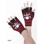 fingerhandschuhe-schwarz-rot-gestreift