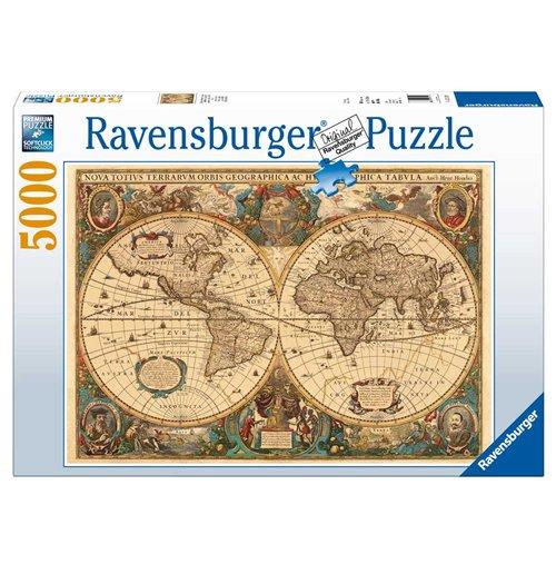 Image of Ravensburger 17411 - Puzzle 5000 Pz - Antico Mappamondo