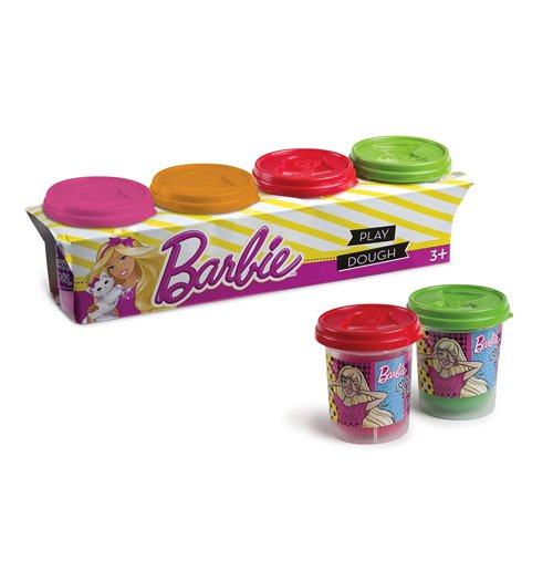 Image of Barbie - Pasta Da Modellare - 4 Vasetti