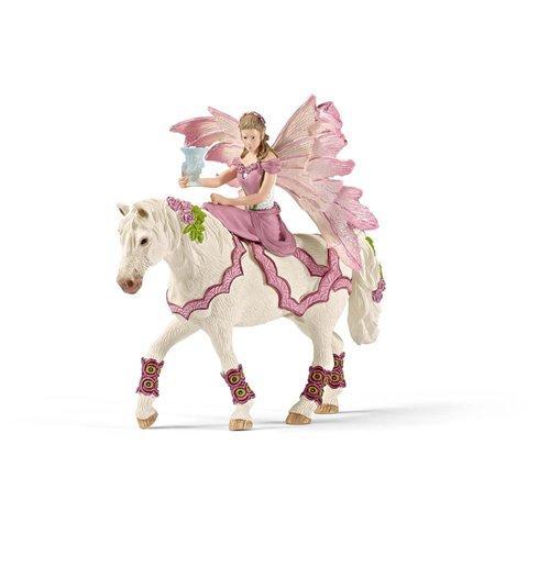 Image of Schleich 2570519 - Feya Con Abito Della Festa A Cavallo
