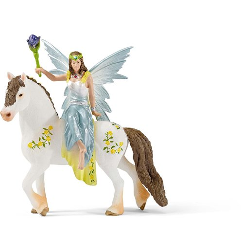 Image of Schleich 2570516 - Eyela Con Abito Della Festa A Cavallo