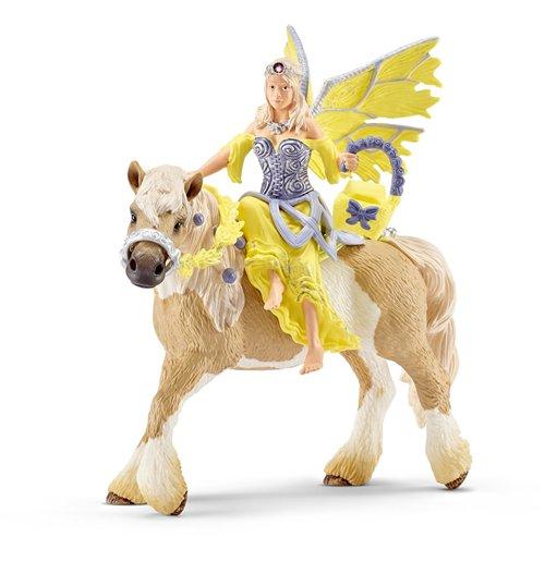Image of Schleich 2570503 - Sera Con Abito Della Festa A Cavallo