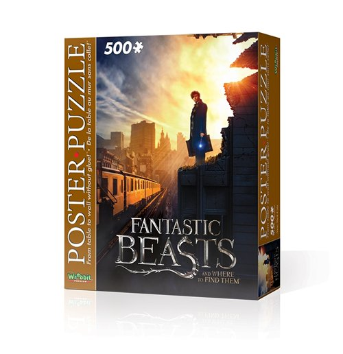 Image of Wrebbit Wpp-5006 - Harry Potter - Fantastic Beasts Ny City (Poster Puzzle 500 Pz)