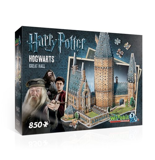 Image of Wrebbit W3D-2014 - Harry Potter - Hogwarts Great Hall (Poster 3D 850 Pz)