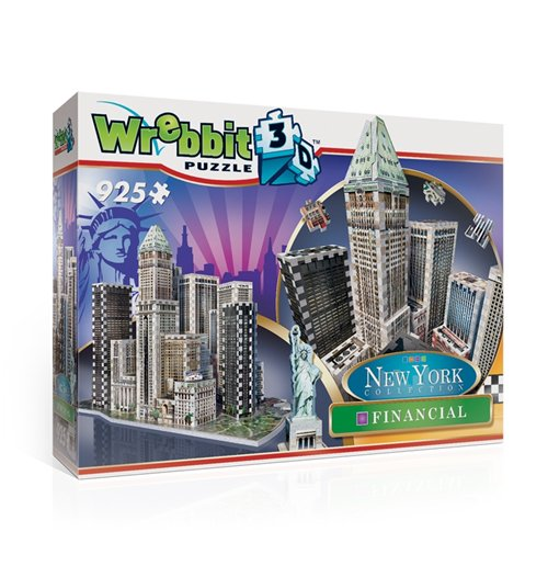 Image of Wrebbit W3D-2013 - New York Collection - Financial (Puzzle 3D 925 Pz)