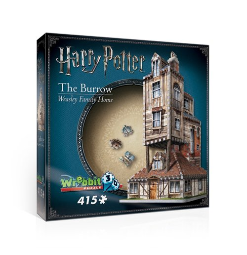 Image of Wrebbit W3D-1011 - Harry Potter - The Burrow - Weasley Family Home (Poster 3D 415 Pz)