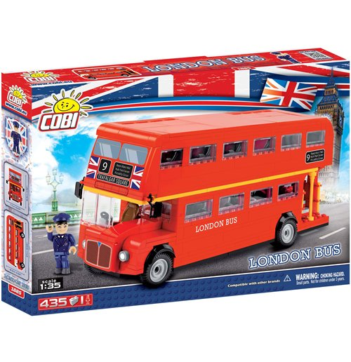 Image of Cobi - Action Town - 1885 Double Decker Red Bus 480 Pz