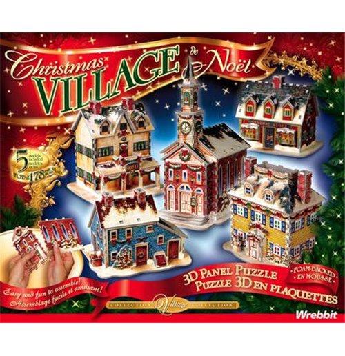 Image of Wrebbit Wsp-5601 - Christmas Village New (Puzzle 3D 116 Pz) (Disponibilita' Limitata)