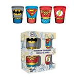 DC Comics Set 4 verres à liqueur Premium Costumes