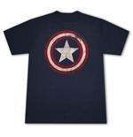 CAPTAIN AMERICA Distressed Shield Logo T-Shirt