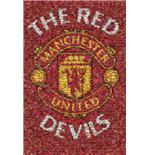 Poster Manchester United Red Devils - Mosaïque